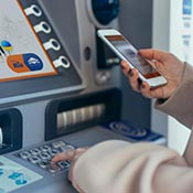 Completing a Ria Money Transfer at a Euronet ATM